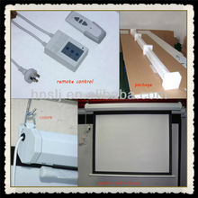 300 inch glass beaded sliding electric projector screen for home theater