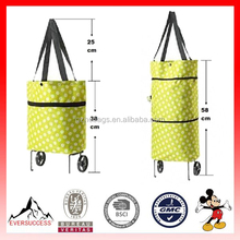 Hot Sell Oxford Cloth Foldable Trolley Bag for Shopping (ESX-LB037)