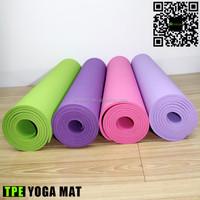 Single color TPE yoga mat wholesale