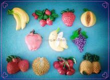 resin fruit fridge magnet