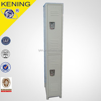 Double tiers compartment anti-rust marine metal locker with off-white color