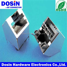 rj45 jack modular connector with 90 degree