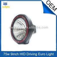 9'' 75w hid driving light, 4x4 accessories hid off road spot light,9'' 75w hid xenon fog light