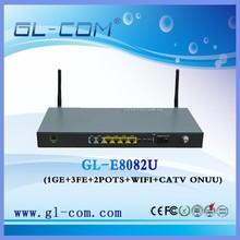 FTTH ONU 4FE+2POTS+WIFI+CATV WIFI GEPON ONU /CATV Optical receiver