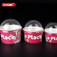 custom disposable 12 oz Ice cream cup /frozen paper yogurt cup with lid/ice cream bowls