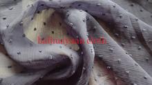 motii de corte de tela de poliéster de gasa arrugada de crepe de gasa