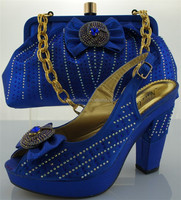 2014 italian ME0069 royal blue high quality shoes matching with bags