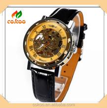 Newest High water resistant Silicone watch,watch gift set make custom skeleton watch OEM