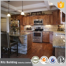 Economical global project classic solid wood kitchen of cherry wood kitchen cabinets