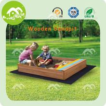 sand pit,wooden sandbox,2kids one sandbox