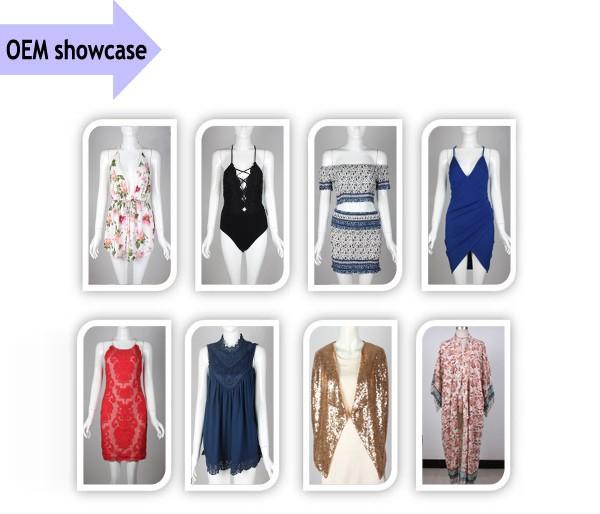 Dongguan fabricante de vestuário de moda vestido, senhoras nova moda vestido