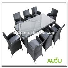 ferro forjado ao ar livre de luxo sala de jantar conjunto