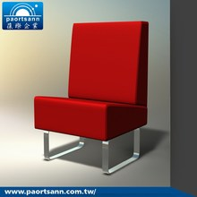 Red PVC leather modern furniture living room sofa