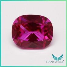 Wuzhou Square Blue Sapphire Processing Loose 5# Red Corundum Gemstone Ruby