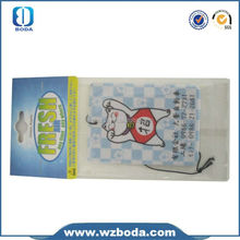 low price nontoxic lasting fragrance car decoration car fragrance air freshener card