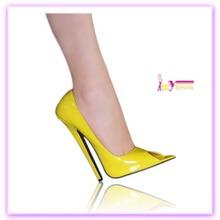 Banquete elegante zapatos amarillos fiesta <span class=keywords><strong>de</strong></span> la moda del tacón alto Mujer