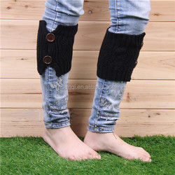 Fashion Acrylic Knitted Boot Gaiters for girls