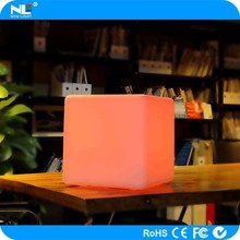 waterproof IP68 rechargable led cube chairs for bar/cafe/garden/home decoration