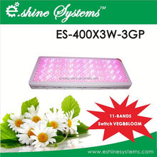 Red(630nm)/Blue(460nm) Emitting Color and Iron Lamp Body Material 400x3w led grow light
