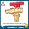 fan coil unit valve brass ball valve blating polishing manual power control valve plating PPr pipe fitting brass lockable
