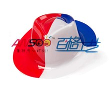 Cheap plastic party gangster hat of Chile flag