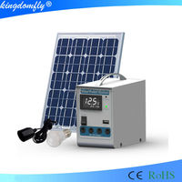 5w DC portable solar power system with LCD display for lighting