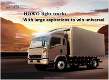 china HOWO Light Truck 4x2 for sale van truck