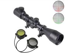 Optics Sniper Riflescope 3-9x40 EG Red & Green Illuminated Crosshair Gun Scopes