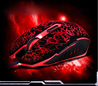 2015 Hot Selling 2400DPI Optical Adjustable 6D Button Wired Gaming Game Mice Mouse for Laptop PC