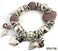 Lava & CCB Beaded Bracelet