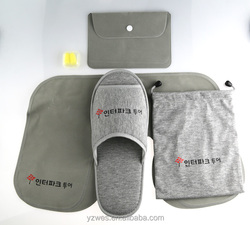 OEM supplier Cotton fabric durable travel kit for airline