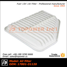 OEM 17801-31120 Auto/Car air filter manufacturing machines,auto air filter size for Toyota