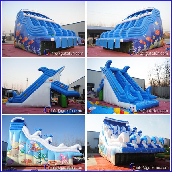 Nouveau Design Grand Toboggan Gonflable Avec Piscine Pour Enfants Toboggan Gonflable Id De