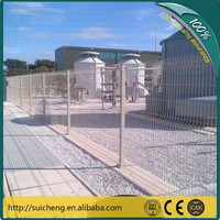 Trade Assurance Supplier White Iron Welded Wire Safety Fence for Airport,Garden,Farm