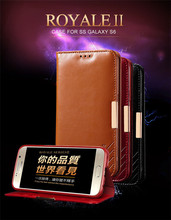 KLD real leather flip royale phone case for Samsung Galaxy S6
