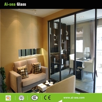 Sound-proof Hollow Glass Sliding Door Living Room Glass Partition