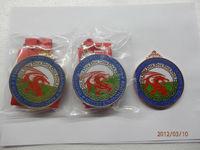 custom round shape badge with expoy logo