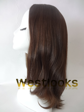 Medium Length Virgin Human Hair Jewish Lady Wigs Kosher Wig Silk Top