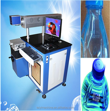Fast marking speed laser machine to print expiry date on the bottle or plastic packing bag from Guangzhou manufacturers with ce