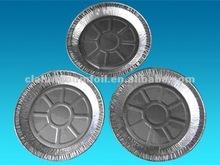 rodada pan folha de alumínio para pratos de comida