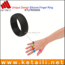 For Alibaba Express OEM Silicone Finger Ring Made in China silicon magnetic slimming health massage foot toe ring