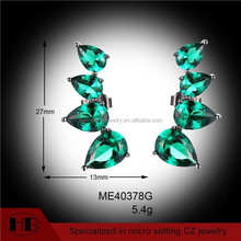 925 silver earring manufacturer emerald zircon