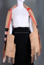 oversized thick winter wear cashmere shawl with pocket