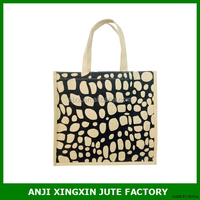 eco-friendly material jute packing bag recyable and foldable shopping bag printing your logo on