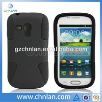 2013 New style for samsung galaxy s3 mini i8190 hybrid phone case