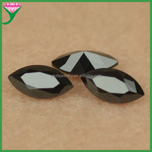 factory price machine cut marquise shape nano black spinel stone for wax set jewelry