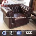Solo plazas sofá de la oficina, oficina sofá de cuero, moderno mobiliario de oficina