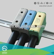 New CE UL Large Current Series Din-railJUT10 PE GY BE 1Pole AL/Cu 2.5-50sq.mm Universal Terminal Conductors