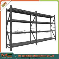 2 joint black garage storage shelf,racking shelf