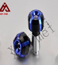"""CNC Aluminum 7/8"""" Goblet Handlebar Hand Grip Ends Slider Plug Motorcycle grips"""